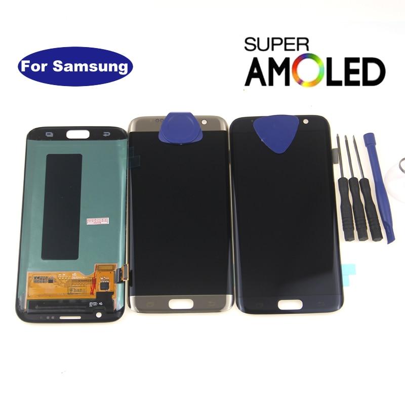 شاشة AMOLED LCD تعمل باللمس ، 5.5 بوصة ، لهاتف SAMSUNG s7 edge G935F G935FD G935W8 G9350 G935K G935V