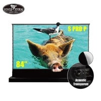 Vividstorm     ecran de sol electrique retractable 84 pouces  pour television Laser  4K HD  pour Home cinema