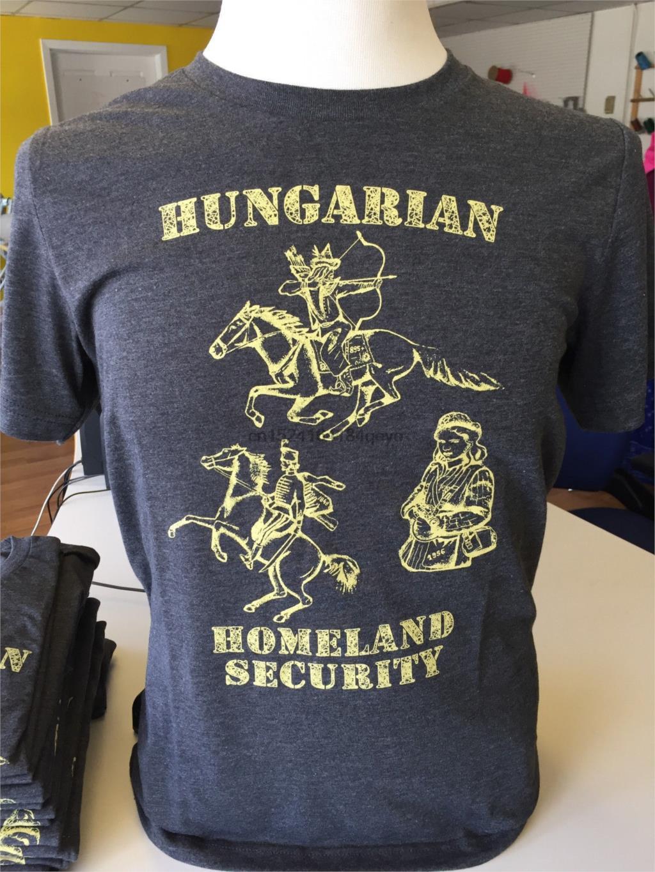 Camiseta Magyar para hombre, Camiseta de algodón de mezcla de seguridad nacional XS-3X