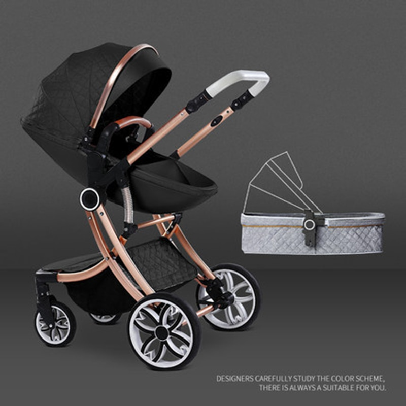 Baby Stroller Can Sit and Recline Two-in-one High Landscape Two-way Newborn Shock Absorber Four-wheeled Child Baby Stroller