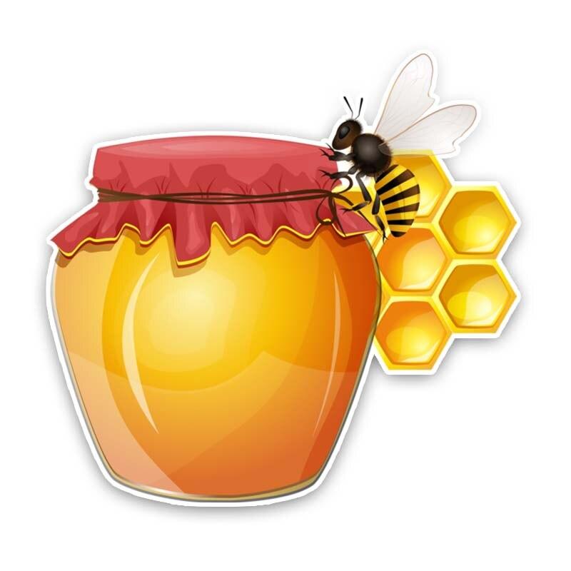 Внешние аксессуары JuYouHui, Переводные картинки, Мультяшные автомобильные наклейки, Переводные картинки с изображением меда и пчелы, фотограф...
