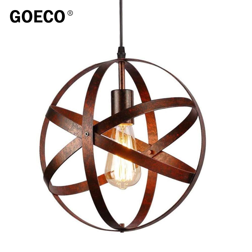 الصناعية مصباح معدني على شكل قلادة ، كروية سقف معلق ضوء ، المطبخ غرفة الطعام مزرعة مدخل المدخل الديكور ضوء