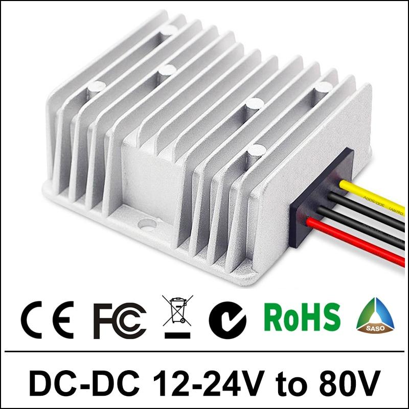 12V 16V 20V 24V a 80V 1.5A 120W DC Boost Converter reductor Módulo de Control de coche a prueba de agua fuente de alimentación 12 voltios 24 voltios 1.5Amp