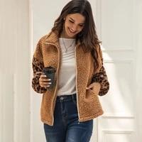 fashion women winter solid colors long sleeve zipper fleece warm sweater casual jacket wool coat outerwear winter clothes women