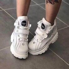 Top Quality Genuine Leather buffalo shoes platform london Women Casual Sneakers imitacion Brand Luxu