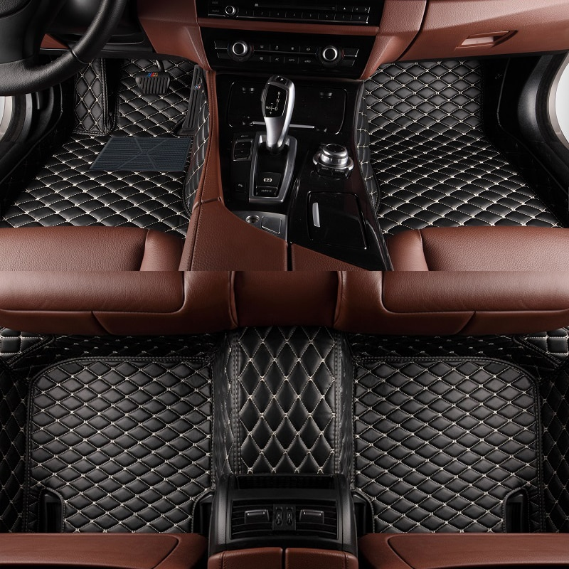 Coche personalizado alfombras de piso para Peugeot 308 308CC 308 308SW 408 508 607, 2008, 3008, 4008 RCZ de coche de cuero de alfombra, alfombras de piso del trazador de líneas