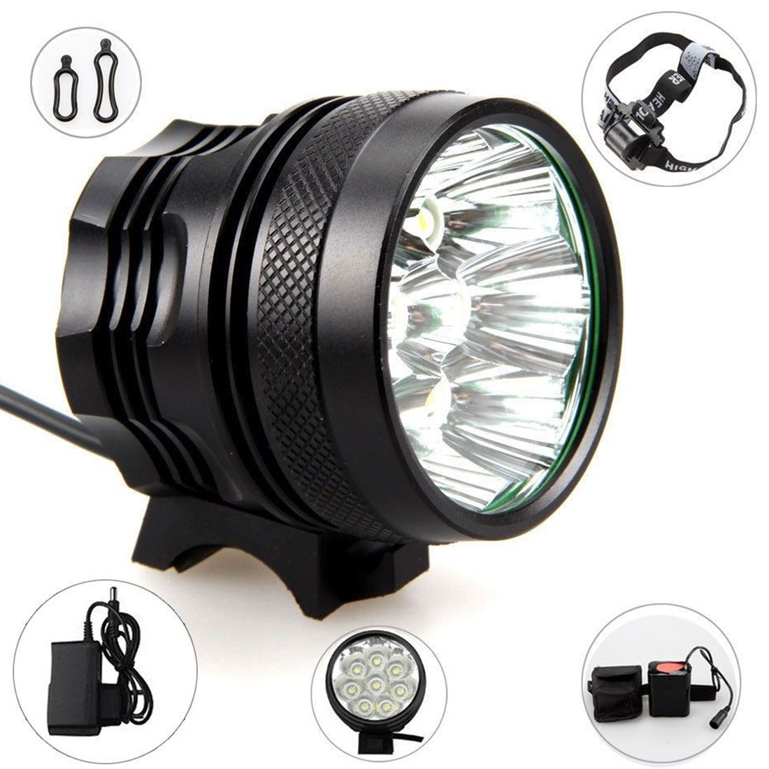 SecurityIng Bicycle Headlights XM-L T6 LED Camping Fishing  Cycling Flashing Light Lamp Waterproof 18650 Battery  Bicycle Lights enlarge