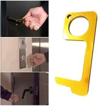 Гигиена ручной антимикробный латунный EDC открывалка двери и стилус портативный пресс инструмент для лифта дверная ручка ключ