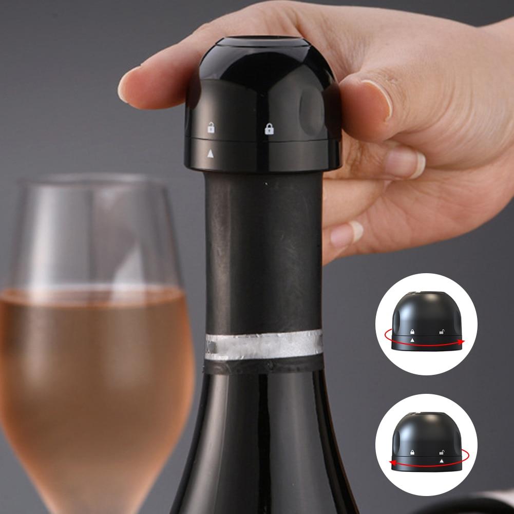 Горячая новинка, пищевой силикон, герметичная пробка для бутылки шампанского, герметичная мини-пробка для сверкающего вина из АБС-пластика