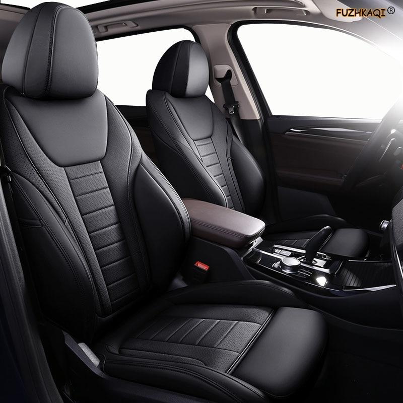 FUZHKAQI-غطاء مقعد السيارة الجلدي المخصص ، واقي مقعد السيارة لأودي A4 A3 A6 Q3 Q5 Q7 A1 A5 A7 A8 TT R8