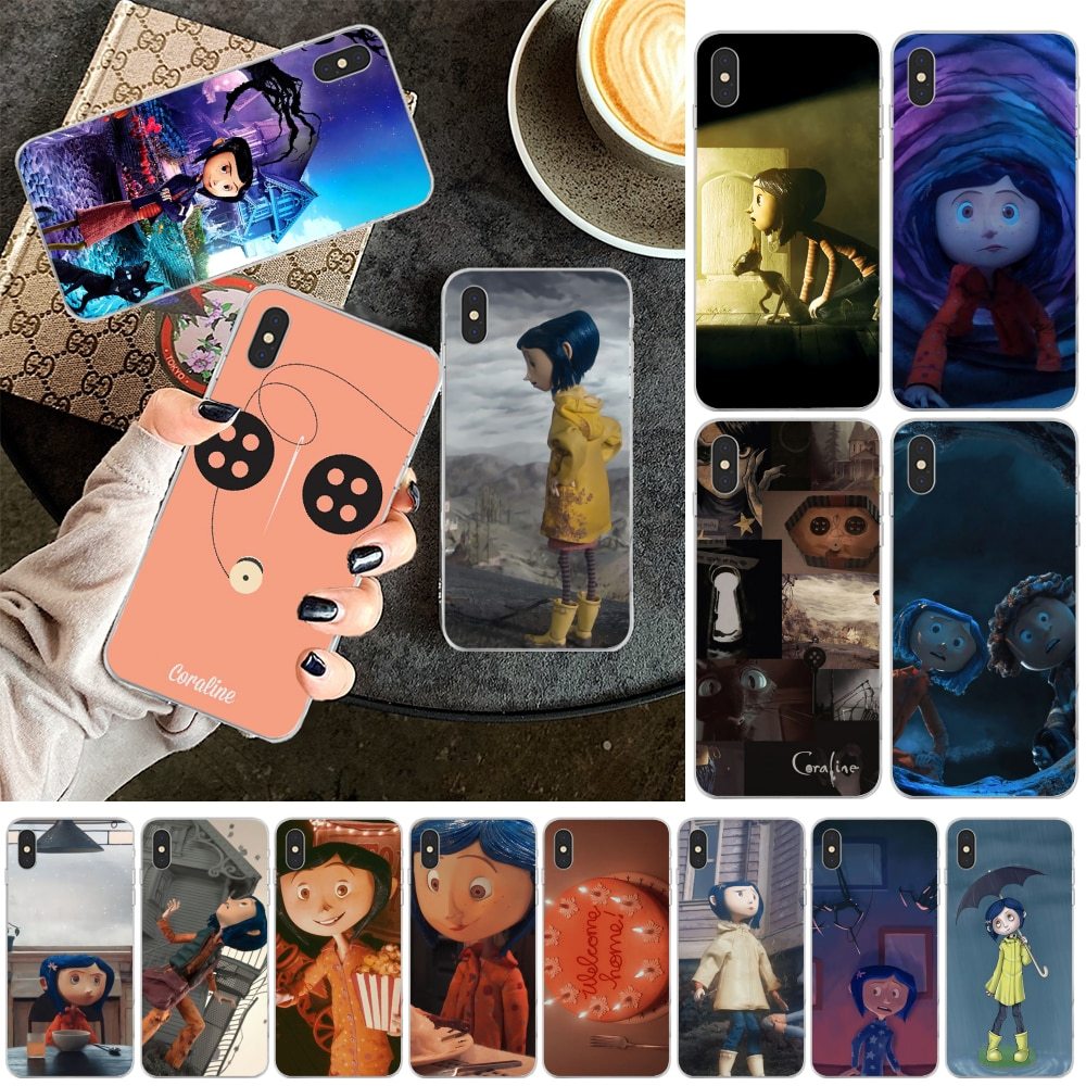 Reayou película Coraline suave de TPU cubierta de la caja del teléfono para iPhone 11 pro XS MAX 8 7 6 6S Plus X 5 5S SE XR cubierta