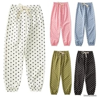 kids girls boys baggy leggings polka dot printed long pants children sport casual clothing slacks linen trousers