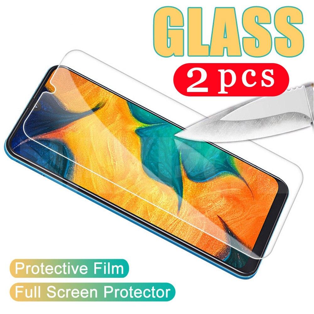 2Pcs smartphone für samsaung galaxy A10 A10S A20 A20E A30 A40 gehärtetem glas A50 A60 A70 a70s A80 A90 telefon screen protector