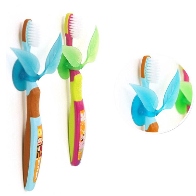 Porte-brosse à dents en forme dherbe   Porte-brosse à dents créative multifonction, support pour feuilles, porte-brosse à dents à débris, support pour dentifrice