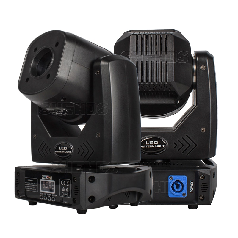 SHEHDS LED 80 واط 3 الوجه بريزم بقعة تتحرك إضاءة أمامية DMX التحكم بار حفلة Dj ديسكو DMX المرحلة تأثير الإضاءة