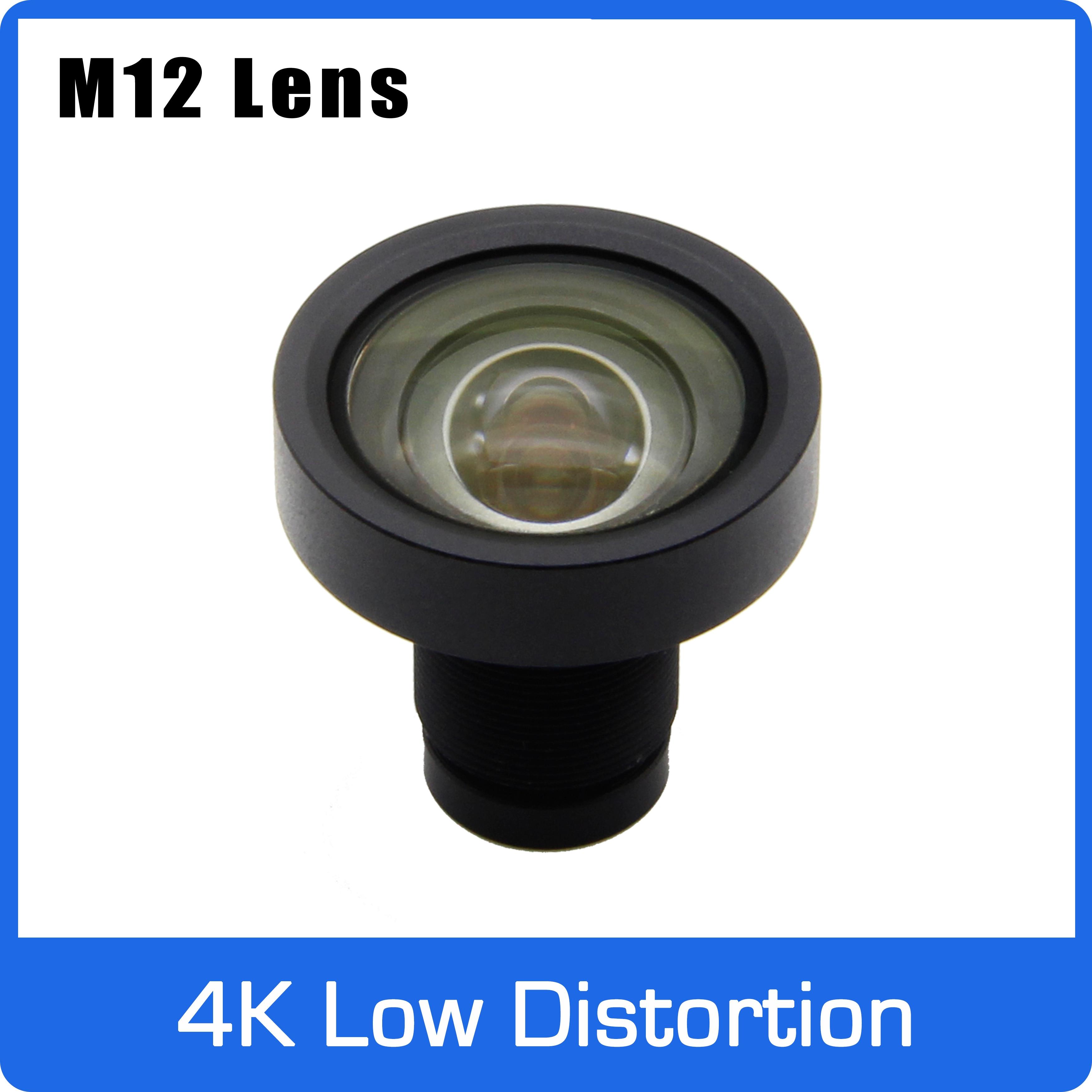 8 megapíxeles fijos 1/1.8 pulgadas 4,5mm baja distorsión F2.0 lente para SONY IMX178/226/334 OV OS08A10 8MP cámara CCTV IP envío gratis