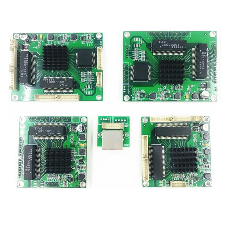 Ethernet Switch Module 5 Ports Unmanaged10/100/1000mbps  PCBA board OEM Auto-sensing Ports PCBA board OEM Motherboard