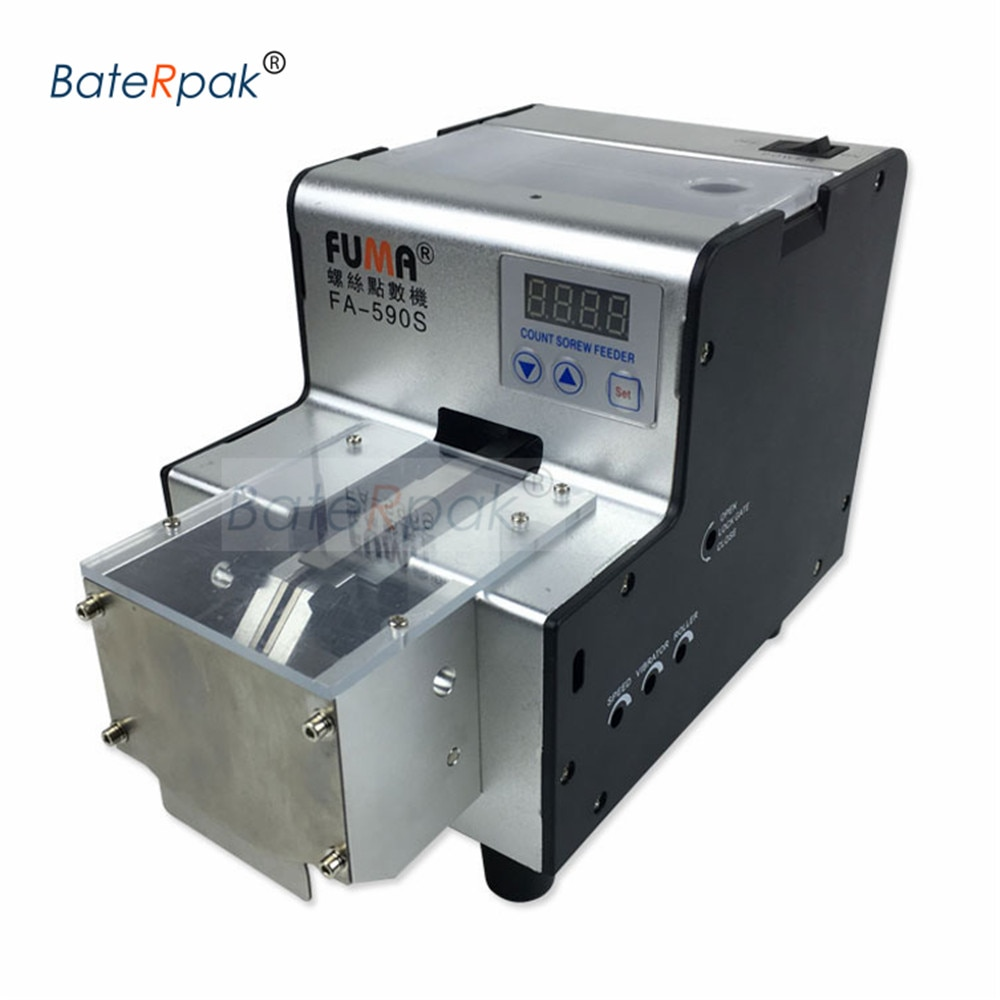 BateRpak/FUMA Automatic screw counting machine FA-590S with hopper/storage screw counting device AC 100-240V enlarge