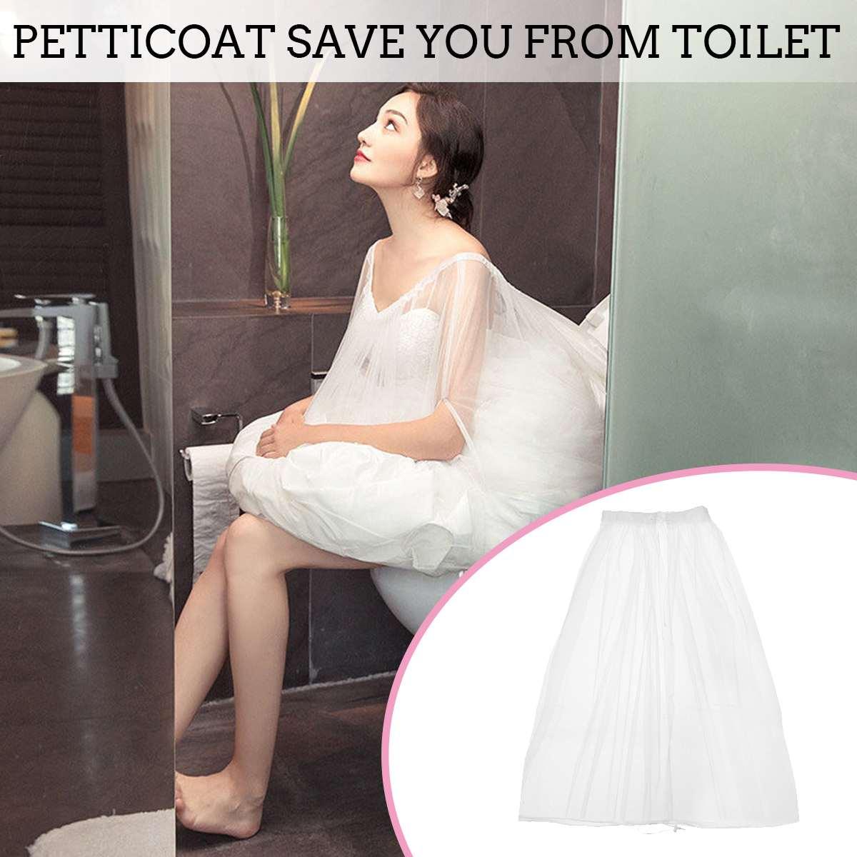 Enagua nupcial de 65-105cm, enagua de baño, falda deslizante, guardar vestido de boda