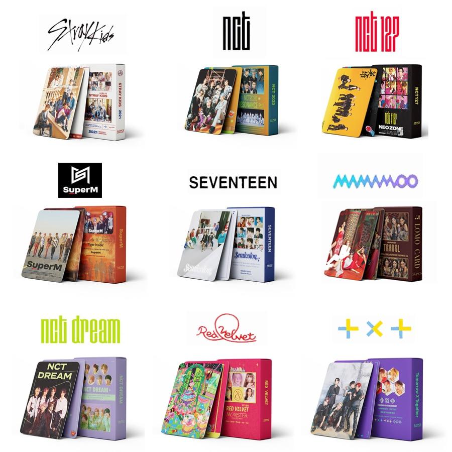 54pcs/set Kpop Stray kids NO EASY Lomo Cards ATEEZ TXT TWICE NCT 2020 127 Dream TXT GOT7 ENHYPEN ITZY photo Album
