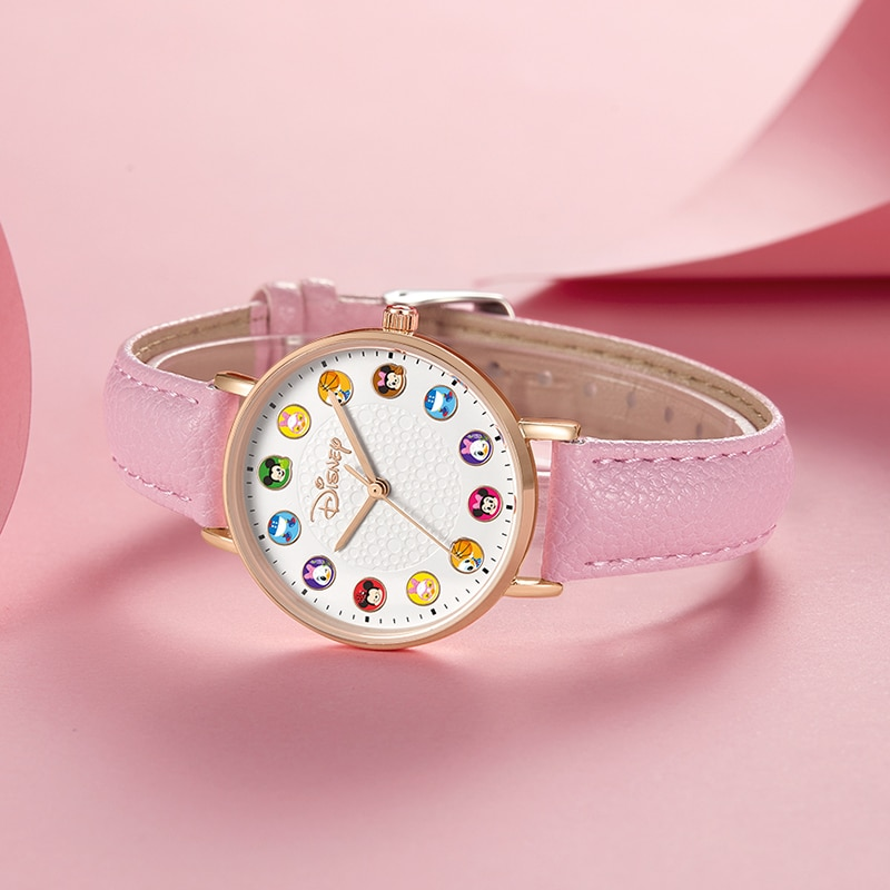 Big Sale Pretty Lady Leather Strap Watch Youth Girl Gift Quartz Wrist Watches For Women Cartoon Clock Steel Band Female Time New enlarge