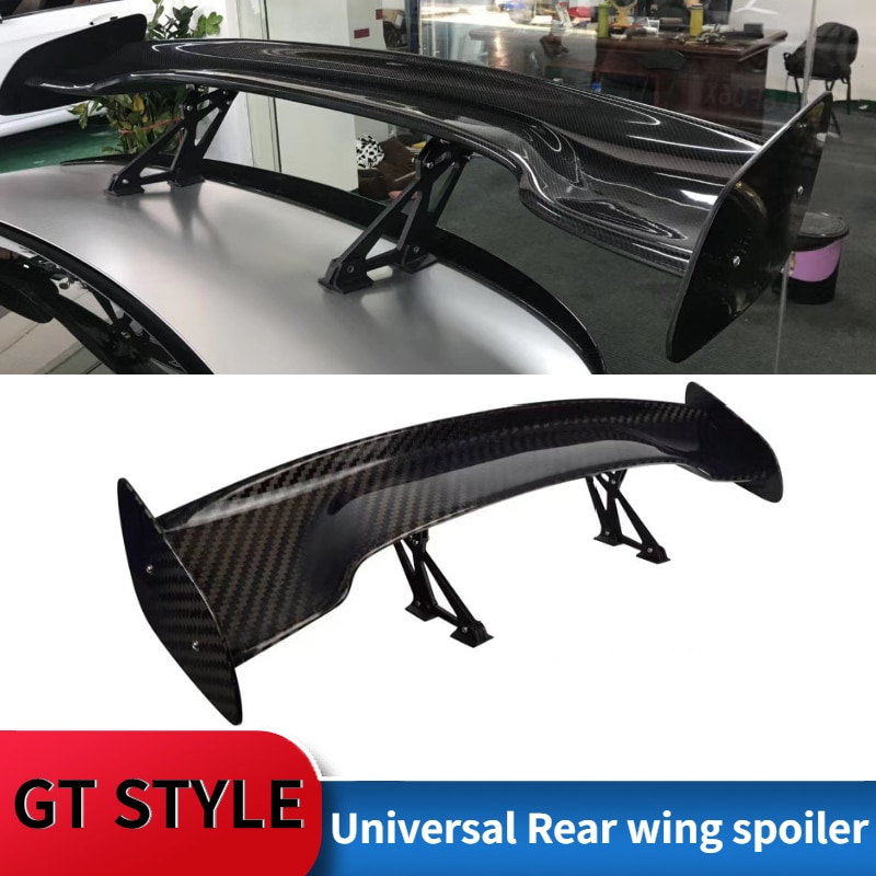 Universal Car Spoiler Fit For All Sedan Cars Car Accessories Tail Exterior Trim ABS Spoilers Tuning GT Carbon Fiber Tail Wing