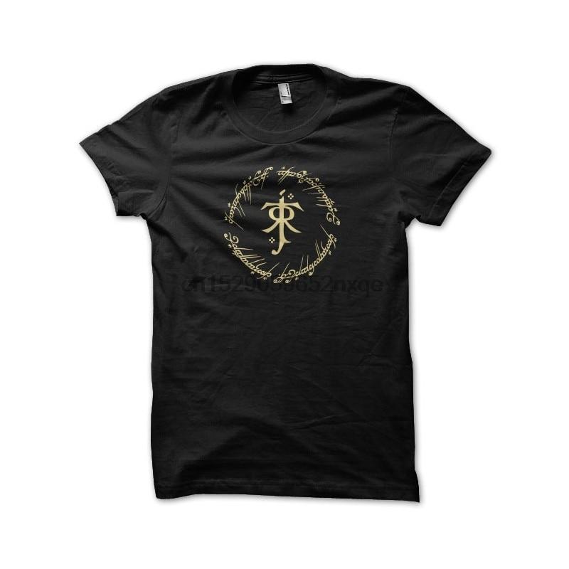 Camiseta para hombre, camiseta con símbolo de tolkien, único negro, camiseta para mujer