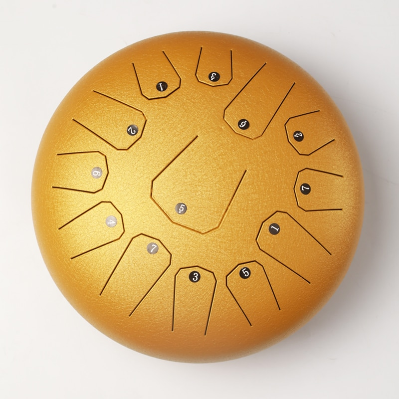 New Style Steel Tongue Drum 12 Inch 13 Tone  Hand Drum Ethereal Drum Yoga Meditation Percussion Instrument With Pro Drum Pack enlarge