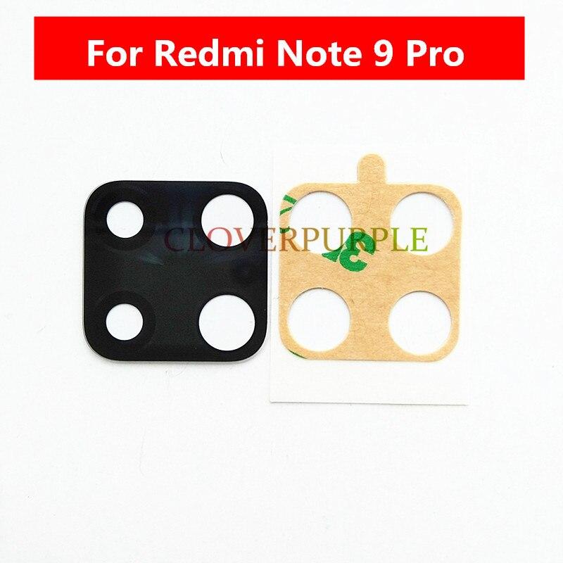 2x arrière arrière caméra lentille en verre avec colle pièces de rechange pour Xiaomi Redmi Note 9 Pro