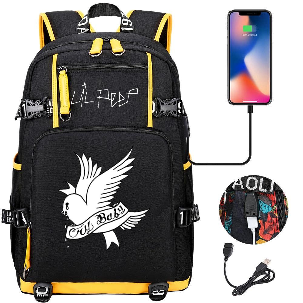 Lil اللمحة الحب Lil. اللمحة حقيبة الظهر فتاة بوي حقيبة مدرسية سعة كبيرة حقيبة لابتوب مقاوم للماء متعددة الوظائف USB شحن ظهره