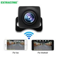 Автомобильная камера заднего вида с Wi-Fi HD и функцией ночного видения, Водонепроницаемая беспроводная камера заднего вида с Wi-Fi, 12 В, Поддержк...