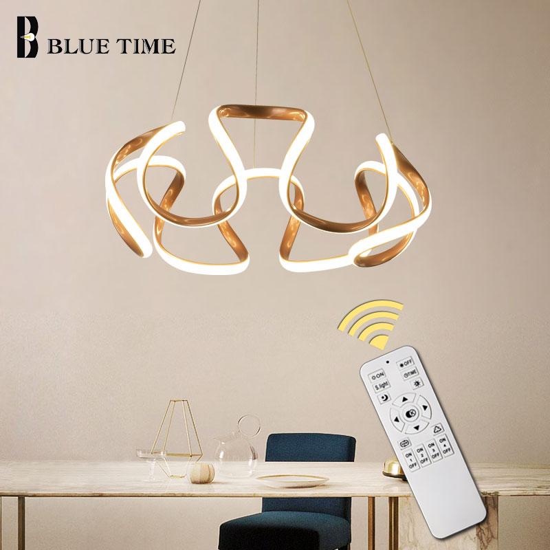 Lámpara colgante LED moderna, lámpara colgante para comedor, dormitorio, sala de estar, lámpara LED moderna, lámpara colgante para techo, accesorio de café y dorado y gris