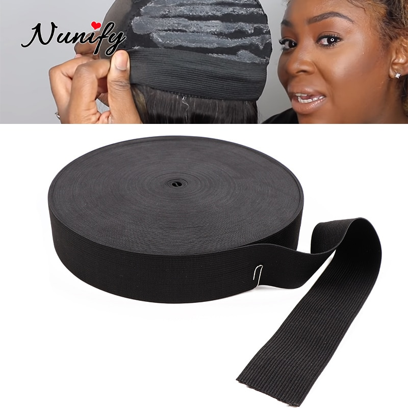 Nunify Adjustable Elastic Band With Hooks For Wig/Lace Frontal/Lace Closure Making Round Elastic Band For Sewing Accessories