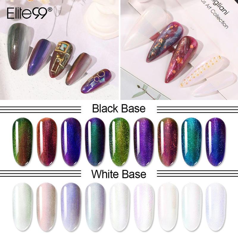 Elite99 não-limpe o revestimento superior do gel do camaleão vernizes híbridos manicure preto baseado para unhas uv conduziu a laca da arte do prego da lâmpada