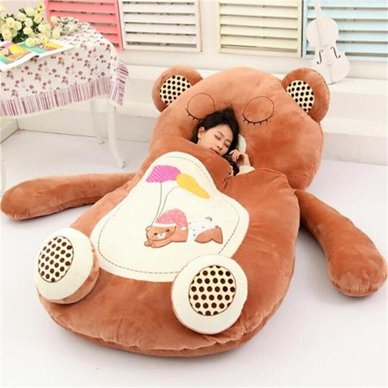 Bolsa de dormir de dibujos animados muy bonita suave gato rana mono oso cama alfombra Tatami sofá alfombra Beanbag peluche niños regalo
