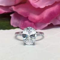 luxury rhinestones zircon rings for women jewelry accessories engagement bridal wedding ring fashion women ring