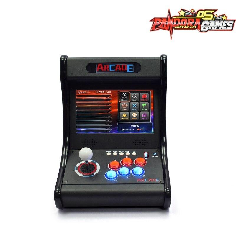 Pandora OS 6067 Games 10 inch LCD Arcade Console Bartop Cabinet Light Button Retro Video Arcade Table Machine