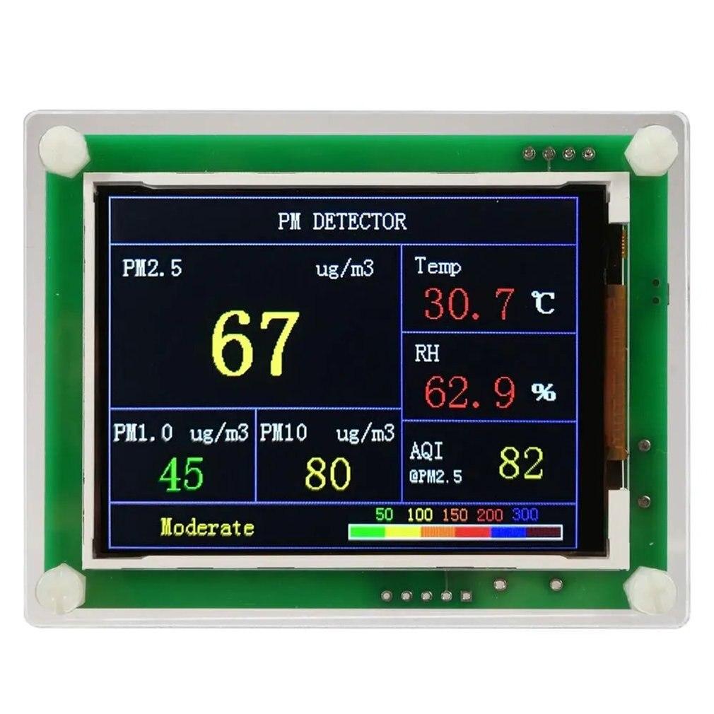 Pm2.5 detector doméstico versão de comunicação qualidade do ar detector poeira sensor monitoramento dados ferramentas escritório em casa