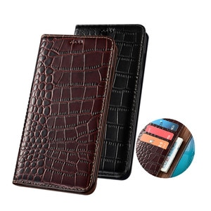 Crocodile Grain Leather Magnetic Phone Cases Card Pocket For Motorola Moto G8 Plus/Moto G8/Moto G8 Play Phone Bag Stand Holster