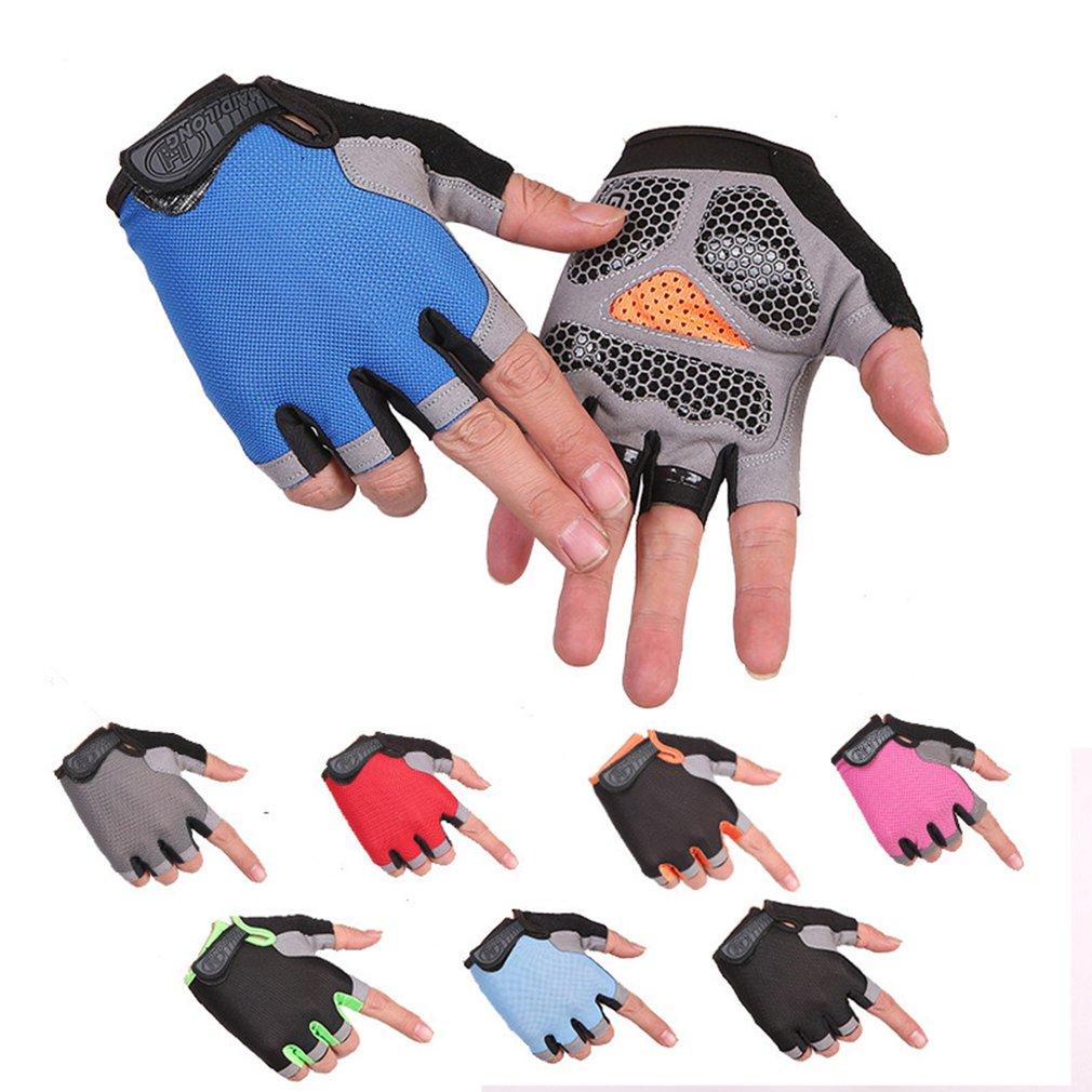 Guantes antideslizantes para ciclismo y manoplas transpirables de medio dedo para deportes...