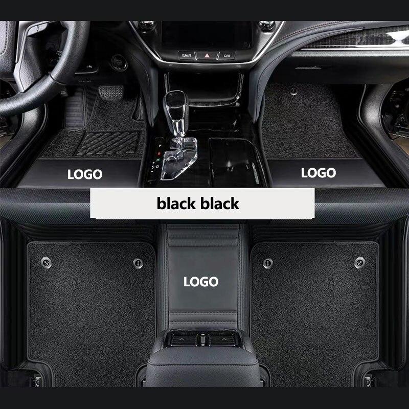 Kalaisike, alfombrillas de suelo con logotipo personalizado para Jaguar, todos los modelos XJL XK XFL XF XE F-TYPE, accesorios de coche, estilismo para coche