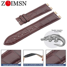 ZLIMSN 정품 악어 가죽 시계 밴드 21mm PIAGET 남성용 및 여성용 시계 지원 사용자 정의 크기