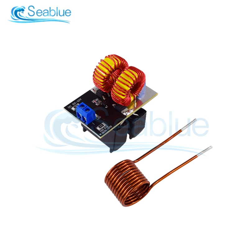 DC 12V 20A 120W Mini ZVS Induction Heating Board Flyback Driver Heater DIY Cooker+ Ignition Coil Hot
