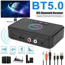NFC Bluetooth 5.0 Audio Receiver Transmitter Speaker To Wireless AUX Interface Car Bluetooth Receive