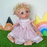 17inch fariy elf handmade reborn baby doll girl doll sweet baby collectible art doll high quality handmade doll
