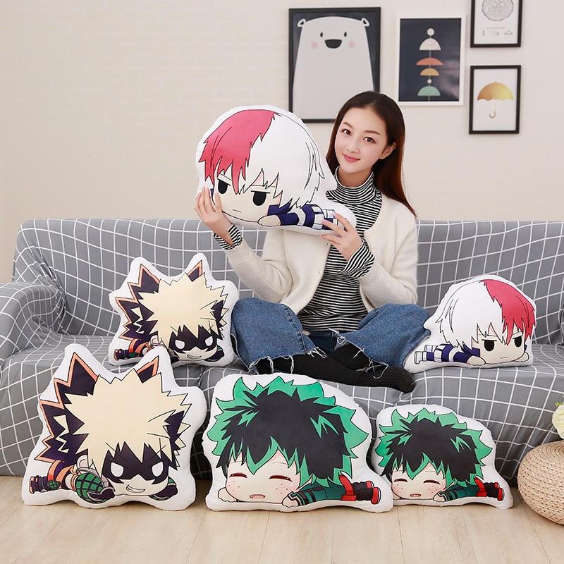 My Hero Academia Anime Boku Yoh Asakura Katsuki Bakugo Shoto Toooroki Midoriya Izuku Dolls Pillow  Stuffed Toys Plush Wigs