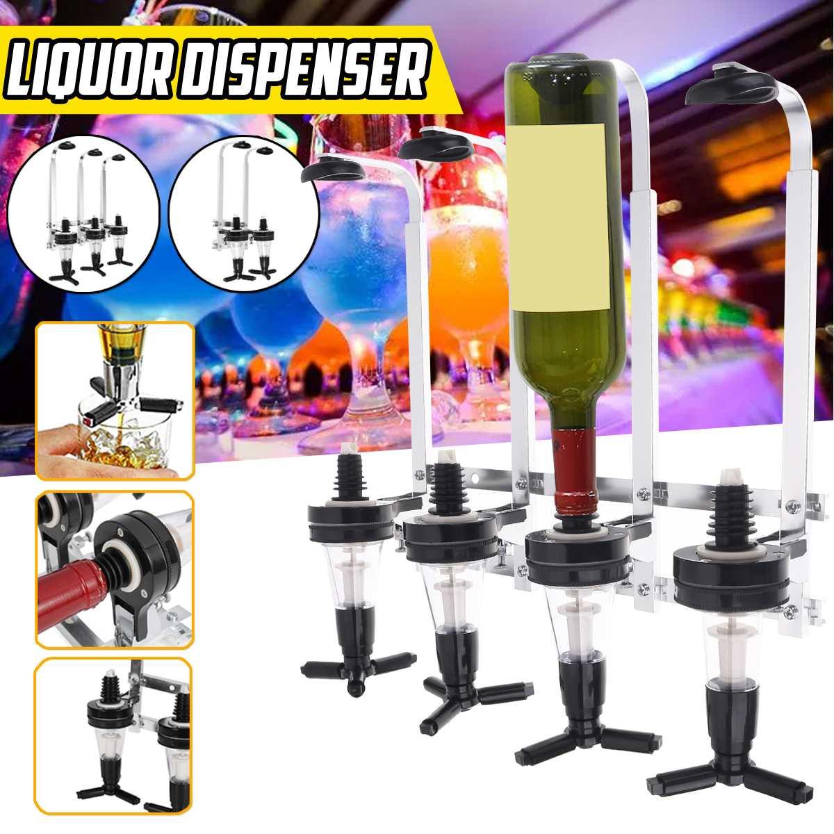 30ml Bar Tool Buffet Pourer Liquor Whiskey Cocktail Dispenser Drinks Wine beer Rack Bar Wall-mounted Wine Shaker 4/3/2 Bottles