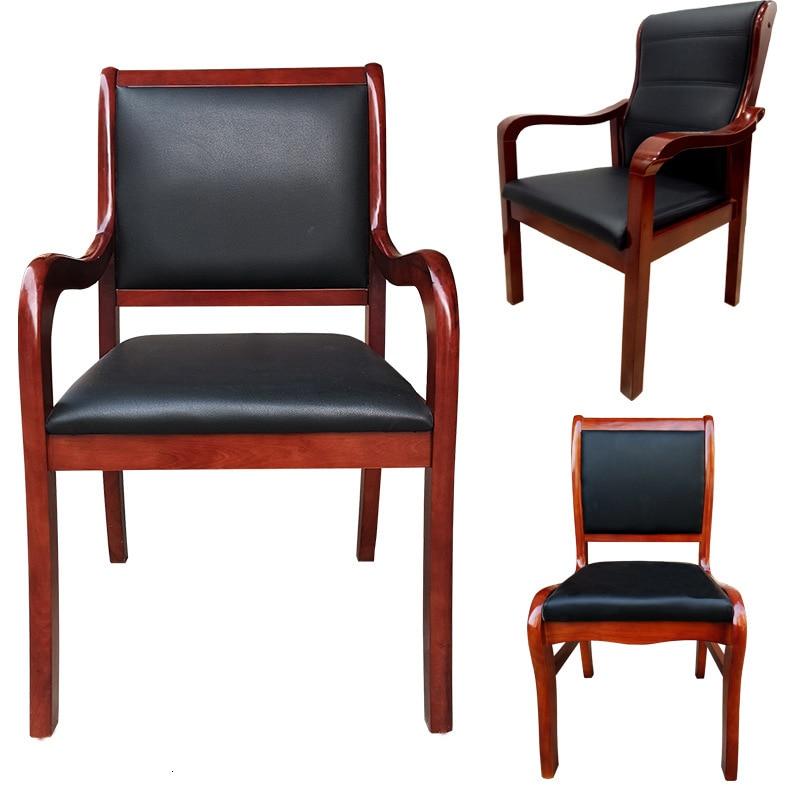 Silla de madera maciza de roble, muebles para reunión, silla de Jefe de Oficina mahjong, mesa de Ajedrez de entrenamiento, silla de cuero escolar