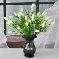 12 heads simulation tulip flower artificial silk magnolia garden greening photography interior decoration