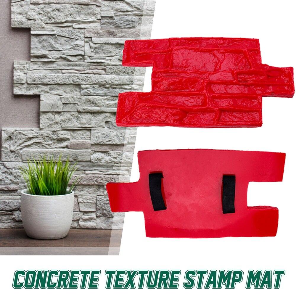 Neue 2 Größe Polyurethan Formen Für Beton Garten Haus Decor Textur Wand Etagen Formen Zement Gips Briefmarken Modell Formen
